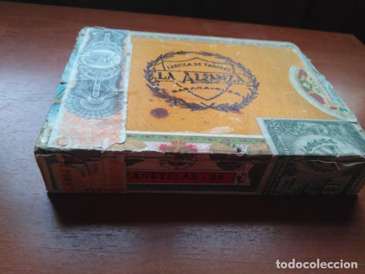 Cajas de Puros: LOTE DE 10 ANTIGUAS CAJAS DE PUROS Y PUROS - VEA LAS FOTOGRAFIAS - Foto 24 - 203109497
