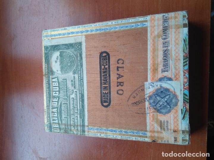 Cajas de Puros: LOTE DE 10 ANTIGUAS CAJAS DE PUROS Y PUROS - VEA LAS FOTOGRAFIAS - Foto 27 - 203109497