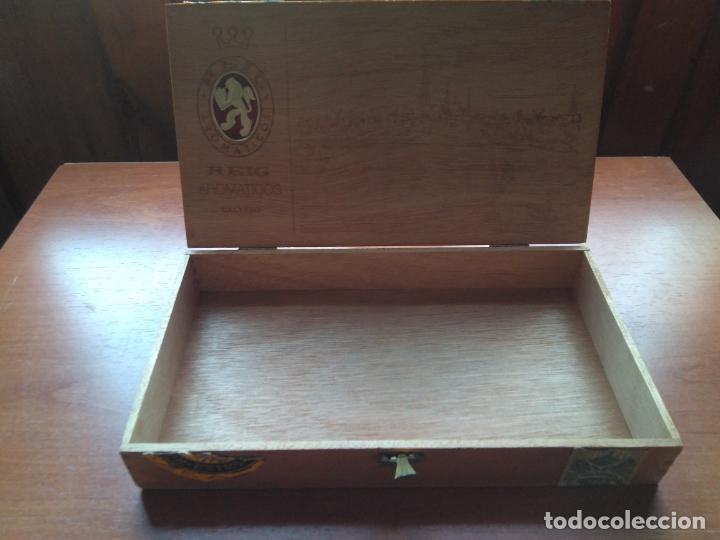 Cajas de Puros: LOTE DE 10 ANTIGUAS CAJAS DE PUROS Y PUROS - VEA LAS FOTOGRAFIAS - Foto 30 - 203109497