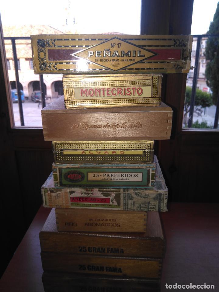 LOTE DE 10 ANTIGUAS CAJAS DE PUROS Y PUROS - VEA LAS FOTOGRAFIAS (Coleccionismo - Objetos para Fumar - Cajas de Puros)