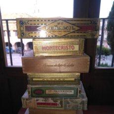 Cajas de Puros: LOTE DE 10 ANTIGUAS CAJAS DE PUROS Y PUROS - VEA LAS FOTOGRAFIAS. Lote 203109497