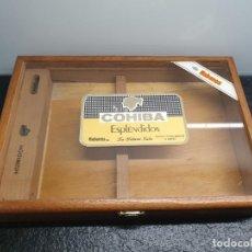 Cajas de Puros: CAJA DE MADERA Y CRISTAL COHIBA ESPLÉNDIDOS CON HUMIDOR. LA HABANA, CUBA (ENVÍO 4,31€). Lote 203959191