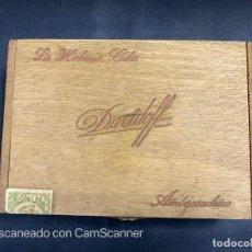 Cajas de Puros: CAJA DE PUROS DAVIDOFF. AMBASSADRICE. PRE-REVOLUCIÓN. CUBA. LA HABANA. VER FOTOS. Lote 204139907