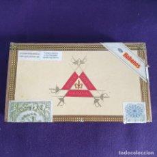 Cajas de Puros: CAJA DE PUROS MONTECRISTO N°5. VACIA. PURO HECHO EN CUBA. TOTALMENTE A MANO. HABANA.. Lote 204642442
