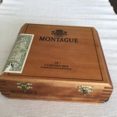 Cajas de Puros: MONTAGNE CAJA DE PUROS DE MADERA DE GRAN CALIDAD CON CIERRE DE BROCHES METÁLICOS. ALEMANA. Lote 205127881
