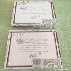 Cajas de Puros: DOS CAJAS DE PUROS RAFAEL GONZÁLEZ VACÍAS + REGALO CAJETILLA COCKTAIL. Lote 205274255