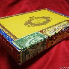 Cajas de Puros: CAJA VACÍA DE PUROS HABANEROS PARTAGAS (HECHOS EN CUBA) DE MADERA CON SELLO GARANTÍA.. Lote 205369150