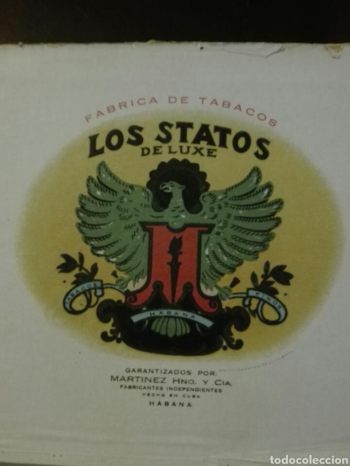 Cajas de Puros: LOS STATOS DE LUXE CAJA DE PUROS CUBA HABANA - Foto 4 - 205594705