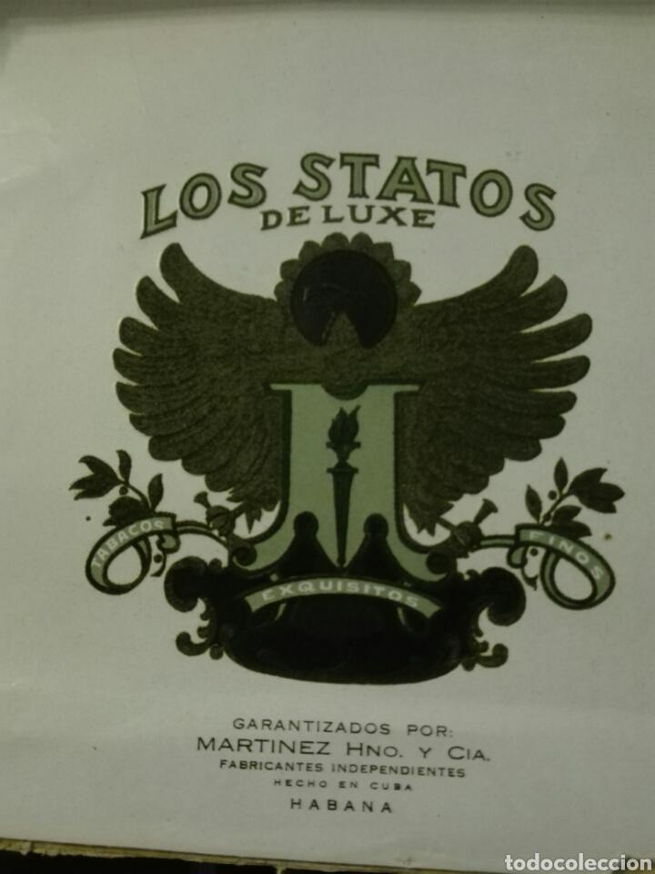 Cajas de Puros: LOS STATOS DE LUXE CAJA DE PUROS CUBA HABANA - Foto 5 - 205594705