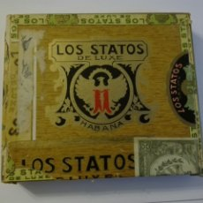 Cajas de Puros: LOS STATOS DE LUXE CAJA DE PUROS CUBA HABANA. Lote 205594705