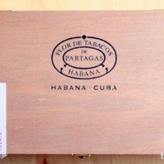 Cajas de Puros: FLOR DE TABACOS DE PARTAGAS - CAJA MADERA VACIA -SERIE D N° 4 - HABANA - CUBA. Lote 205828586