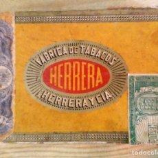 Cajas de Puros: CAJA DE PUROS HERRERA Y CIA CON PUROS DE DON ALVARO Y DON JULIAN Y DON MIGUEL. Lote 205837801