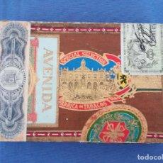 Cajas de Puros: PETIT CETROS AVENIDA, FLOR FINA, MANUEL REYES (ISLAS CANARIAS) CAJA VACIA. Lote 205843686