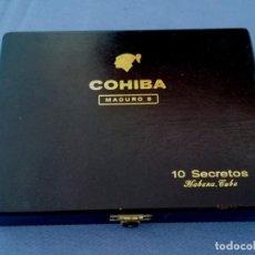 Cajas de Puros: COHIBA MADURO 5, 10 SECRETOS HABANA CUBA - CAJA VACIA. Lote 205844756