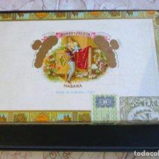 Cajas de Puros: CAJA DE PUROS ROMEO Y JULIETA PRECINTADA Y LLENA CON 25 PUROS CELESTIALES FINOS. Lote 205853366