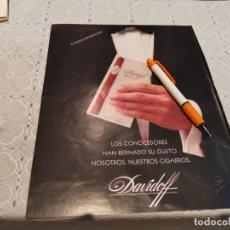 Cajas de Puros: CIGARROS PUROS DAVIDOFF ANUNCIO PUBLICIDAD REVISTA AÑO 1992. Lote 205866405