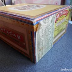 Cajas de Puros: CAJA DE PUROS ANTIGUA PARTAGAS - REPÚBLICA CUBA - SELLO FISCAL TABACOS. Lote 206132368