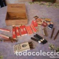 Cajas de Puros: ANTIGUA CAJA DE PUROS CON 48 PUROS Y 11 CAJAS DE CERILLAS.KIEL ZIGARREN M. KELLER CO,RIO 6 LONGO,ETC. Lote 206507096