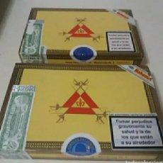Cajas de Puros: CAJAS DE PUROS HABANOS MONTECRISTO N°4 VACIAS CUBA.. Lote 206826810