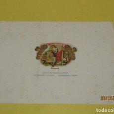 Cajas de Puros: ANTIGUA HABILITACIÓN BOCETÓN DE TABACOS CUBA HABANA ROMEO Y JULIETA LITOGRAFIADA DORADA. Lote 206878267