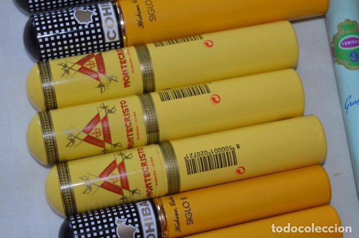 Cajas de Puros: COHIBA / Siglo VI y II - MONTECRISTO y TENISCA - 12 Pureras / Estuches -- VACIOS / aluminio - ¡Mira! - Foto 4 - 207121798