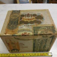 Cajas de Puros: ANTIGUA CAJA DE PUROS VACIA, H. UPMANN, MADE IN HAVANA-CUBA, PRE- REVOLUCION, MADERA. Lote 207255563
