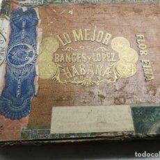 Cajas de Puros: ANTIGUA CAJA DE TABACOS.PUROS LO MEJOR DE BANCES Y LÓPEZ. HABANA FLOR FINA 25 CREMAS. Lote 207256267