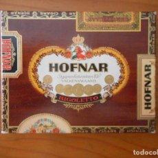 Cajas de Puros: CAJA PUROS HOFNAR RIGOLETTO CON 5 PUROS. Lote 208077422