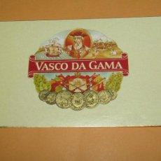 Cajas de Puros: ANTIGUA HABILITACIÓN BOCETÓN DE CIGARROS PUROS VASCO DA GAMA - LITOGRAFIADA, COPADA Y DORADA. Lote 208494620