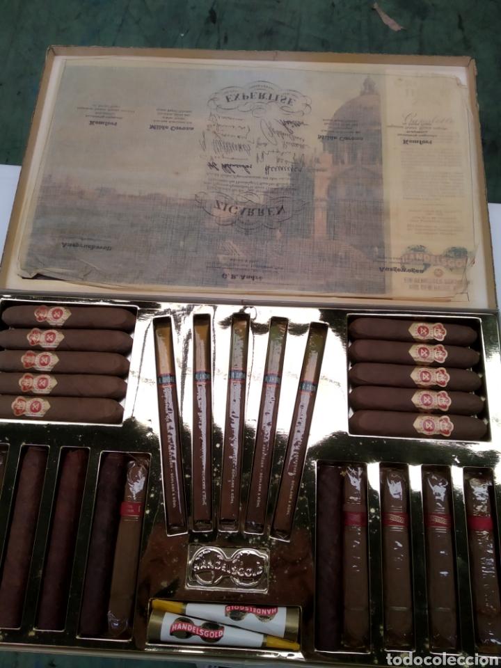 CAJA TABACO PUROS HANDESGOLD CANALETTO. (Coleccionismo - Objetos para Fumar - Cajas de Puros)