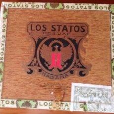 Cajas de Puros: ANTIGUA CAJA DE PUROS DE CUBA - LOS STATOS DE LUXE (VACIA) 10 SELECTOS. Lote 210161431
