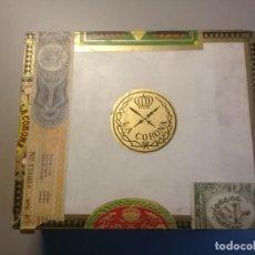 Cajas de Puros: CAJA DE PUROS LA CORONA. CRISTALES 25. QUEDAN 11 PUROS EN SUS TUBOS DE CRISTAL. LA HABANA. Lote 210543500