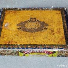 Cajas de Puros: CAJA DE PUROS VACIA: FLOR DE TABACOS PARTAGAS (SUPER PARTAGAS CELLOPHANE) - LA HABANA (CUBA). Lote 210649502