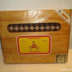 Cajas de Puros: CAJA DE PUROS MONTECRISTO PRECINTADA.IMPECABLE. Lote 210780945