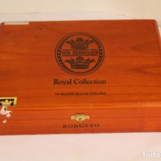 Cajas de Puros: CAJA DE PUROS DOS HERMANOS ROYAL COLLECTION ROBUSTO. Lote 210805224