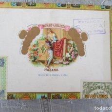 Cajas de Puros: ROMEO Y JULIETA - CAJA DE PUROS - 10 ROMEO Nº 1 - HABANA-CUBA - SELLOS - PRECINTADA.. Lote 210814100