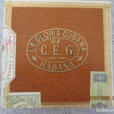 Cajas de Puros: LA GLORIA CUBANA - DE C.E.G. - CAJA DE PUROS 10 TAINOS - HABANA-CUBA - SELLOS - PRECINTADA.. Lote 210814916