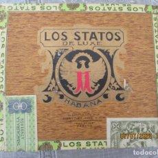 Cajas de Puros: LOS STATOS DE LUXE - CAJA DE PUROS 10 SELECTOS - HABANA-CUBA - SELLOS.. Lote 210815447
