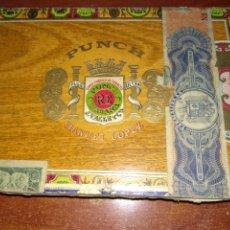 Cajas de Puros: CAJA, VACÍA, DE PUROS PUNCH. SELLO DEPÓSITO DE SANTANDER.. Lote 211567199