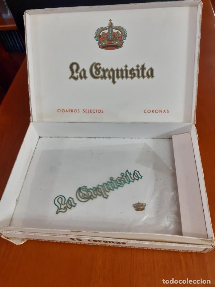 Cajas de Puros: Antigua caja de puros de la Exquisita vacia - Foto 2 - 211579669