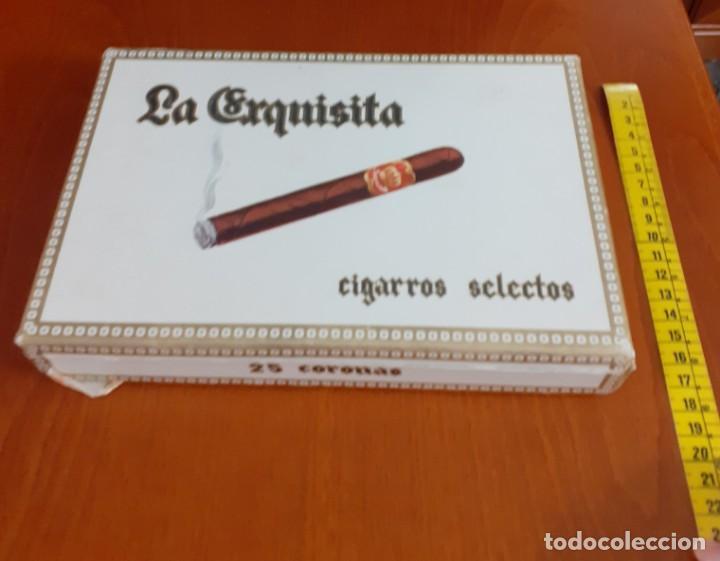 Cajas de Puros: Antigua caja de puros de la Exquisita vacia - Foto 5 - 211579669