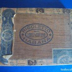 Cajas de Puros: (TA-200704)CAJA DE PUROS RIGOLETTO DE LOPEZ Y CUERVO - HABANA - CUBA. Lote 212066455