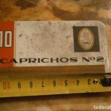 Cajas de Puros: CAPRICHOS CAJA METALICA AÑOS 60 70¡¡. Lote 212220650