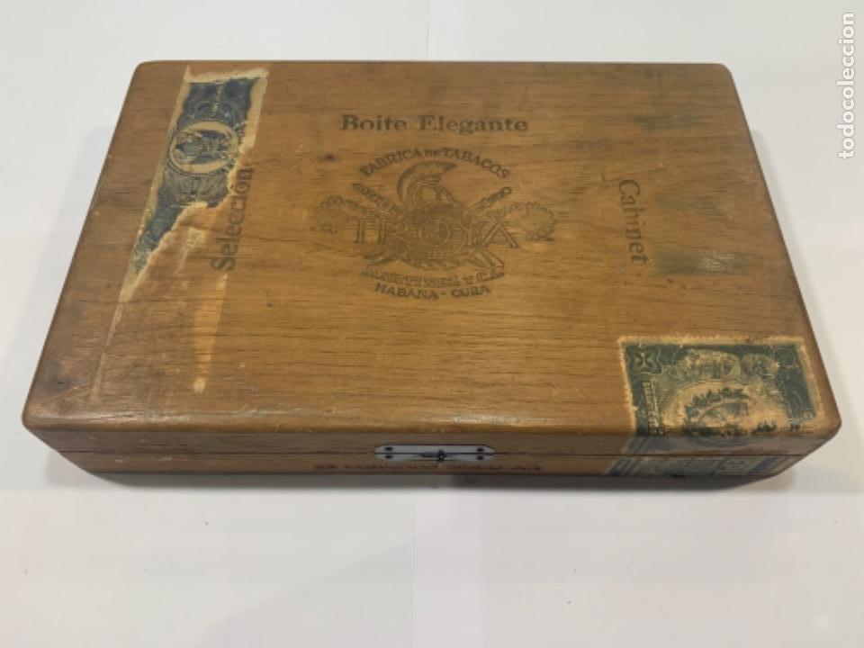 TROYA CAJA DE PUROS VACIA BOITE ELEGANTE CABINET 25 CORONAS SIGLO XX MED.: 25X17X4 CMS. (Q6) (Coleccionismo - Objetos para Fumar - Cajas de Puros)