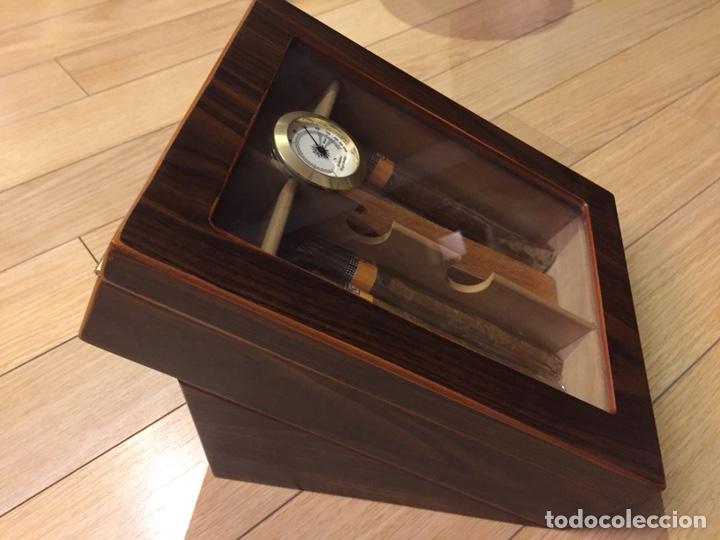 Cajas de Puros: Caja de puros con higrómetro y humificador. - Foto 2 - 213160108