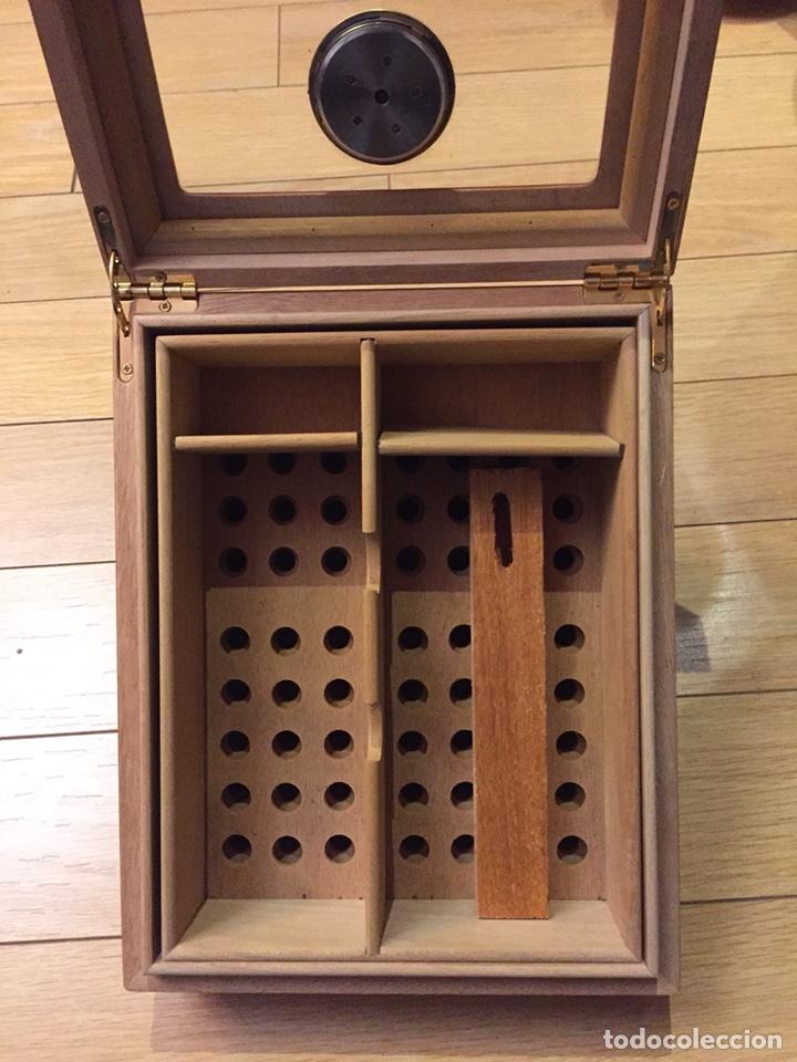 Cajas de Puros: Caja de puros con higrómetro y humificador. - Foto 4 - 213160108