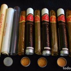 Cajas de Puros: LOTE 6 PUROS HABANA CUBA EN TUBO. Lote 213847480
