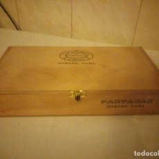 Cajas de Puros: CAJA DE PUROS DE MADERA FLOR DE TABACOS DE PARTEGAS HABANA CUBA,VACIA. Lote 213911385
