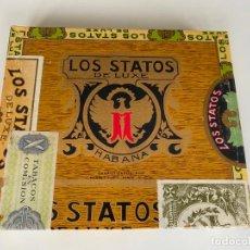 Cajas de Puros: LOS STATOS DE LUXE HABANA , CUBA , CAJA PRECINTADA DE PUROS , 10 SELECTOS. Lote 214271271