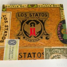 Cajas de Puros: LOS STATOS DE LUXE HABANA , CUBA , CAJA PRECINTADA DE PUROS , 10 SELECTOS. Lote 214271966